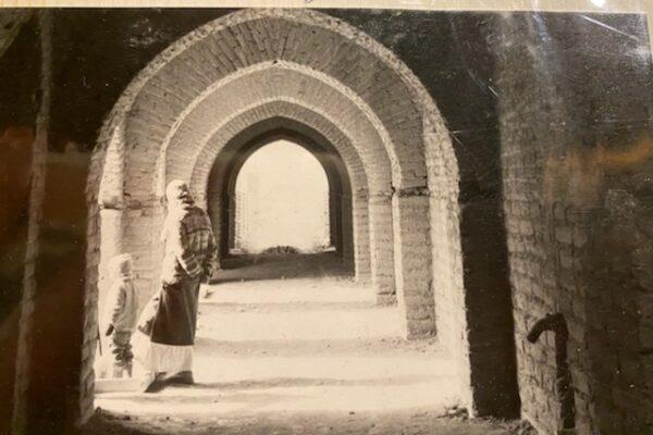 Fatima's family photo of construction at Dar al Islam, in Abiquiu 2