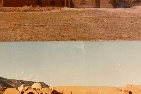 Fatima's family photo of construction at Dar al Islam, in Abiquiu 3