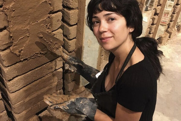 Joanna Keane Lopez mud plastering